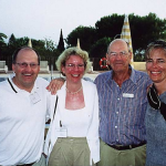 L – R Martin and Carola Poertner Germany, Doug Crosby Australia and Cornelia Ulm Germany.
