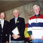 First members to receive the 10 tournament award L- R Doug Crosby (Australia), Peter Read (Australia) Ken Ahrens (U.S.A.)