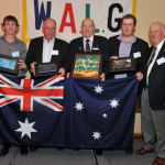 Doug Crosby World Cup winners – Australia L-R Justin Kellett, Brian Lynch, Doug Crosby (World Chairman) Jarrod Freeman and Tony Broadhurst (World President) Absent Graham Hulm.