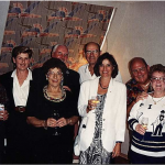 Tom James entertaining a group of Aussies at his home in San Francisco en route to the 1994 WALG event in Florida. L – R Blen Leahy, Peta Cockram, Jennie Leahy, Warren Cockram, Doug Crosby, Kathy Lorentzo (Tom's daughter) Barry and Marie Blundell and the man himself Tom James.